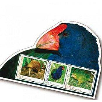 Flugunfähige Vögel - Briefmarken-Block postfrisch, Neuseeland