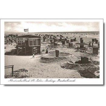 "2252 St. Peter-Ording - Postkarte ""Badestrand"""