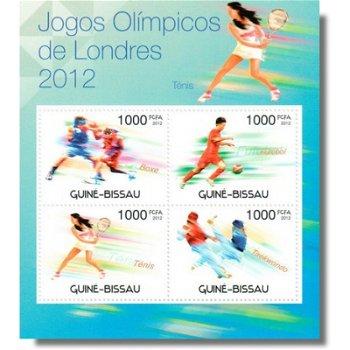 Olympische Spiele 2012 - Briefmarken-Block postfrisch, Katalog-Nr. 5947-5950, Guinea-Bissau
