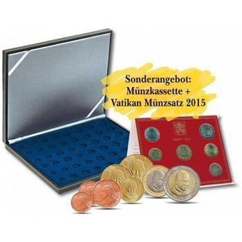 LINDNER Luxuskassette mit den Luxus-Euromünzen aus dem Vatikan