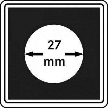 Münzkapseln CARRÉE 27 mm, 4er Pack, LI 2240027