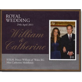 Königliche Hochzeit William und Kate - Briefmarken-Block, Fiji