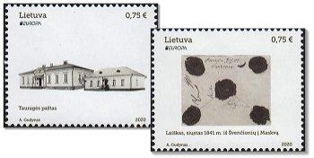 Europa 2020: Historische Postwege - 2 Briefmarken postfrisch, Litauen