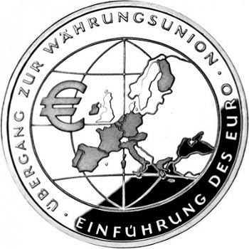 Euro-Einführung, 10-Euro-Silbermünze 2002, Polierte Platte