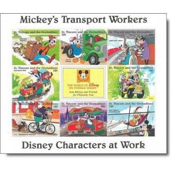 """Disney """"Berufe"""" - Briefmarken-Block postfrisch, St. Vincent und Grenadinen"""
