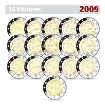 Wirtschafts- und Währungsunion, 2-Euro-Münzen 2009, 16 Stück