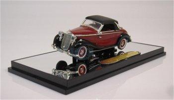 Modellauto:Mercedes-Benz 170 S von 1950, rot-schwarz(Signature Models, 1:43)