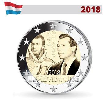175. Todestag von Großherzog Guillaume I., 2 Euro Münze 2018, Luxemburg