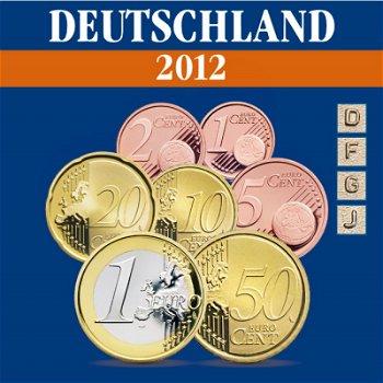 Deutschland - Kursmünzensatz 2012, Prägezeichen D, F, J, G