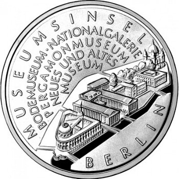 Die Museumsinsel, 10-Euro-Silbermünze 2002, Stempelglanz
