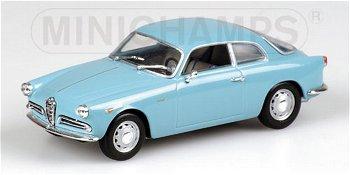 Modellauto:Alfa Romeo Giulietta Sprint von 1954, hellblau(Minichamps, 1:43)