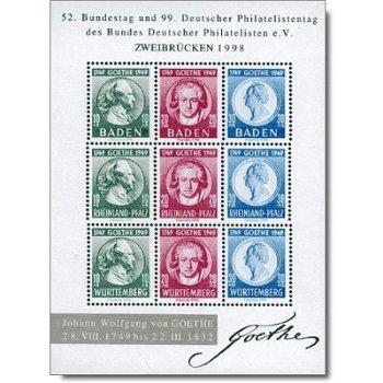 200. Geburtstag von Johann Wolfgang von Goethe - Faksimiledruck, Deutschland