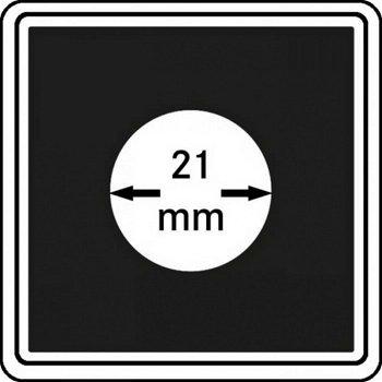 Münzkapseln CARRÉE 21 mm, 4er Pack, LI 2240021