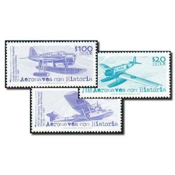 Flugzeuge/Wasserflugzeuge - 3 Briefmarken postfrisch, Chile
