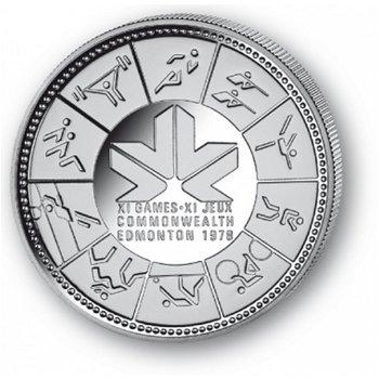 Commenwealth-Spiele Edmonton - Silberdollar 1978, 1 Dollar Silbermünze, Canada