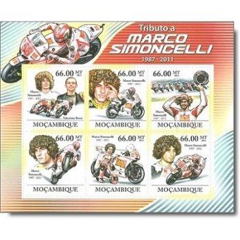 Marco Simoncelli - Briefmarken-Block postfrisch, Mocambique
