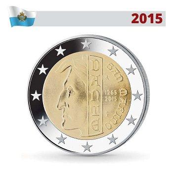 2 Euro Münze 2015, Dante Alighieri, San Marino