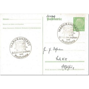 7153 Markranstädt - postal stationery & quot; advertising show and exhibition & quot;