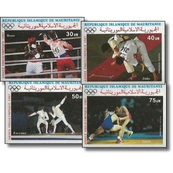 Olympische Sommerspiele 1988, Seoul - 4 Briefmarken ungezähnt postfrisch, Katalog-Nr. 906-909, Maure