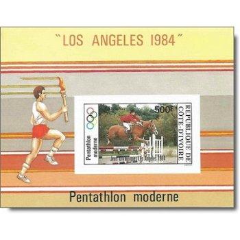 Olympische Sommerspiele 1984, Los Angeles - Briefmarken-Block ungezähnt postfrisch, Katalog-Nr. 816