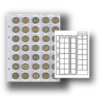 Multi collect-Münzblätter für 35 Münzen, mit schwarzen Zwischenblätter, 5er-Pack, Lindner MU35