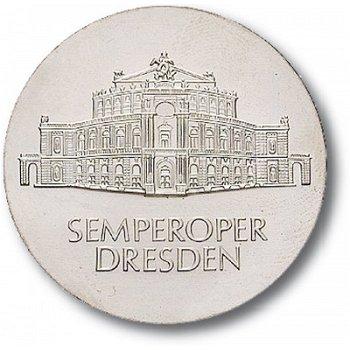 10-Mark-Münze 1985, Wiedereröffnung der Semperoper in Dresden, DDR