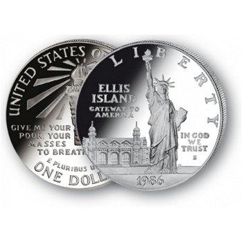 100 Jahre Freiheitsstatue- Silberdollar 1984, 1 Dollar Silbermünze, USA