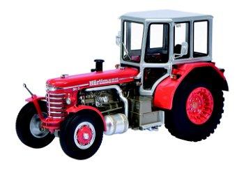 Modell-Traktor:Hürlimann DH 6, rot(Schuco/PRO.R32, 1:32)