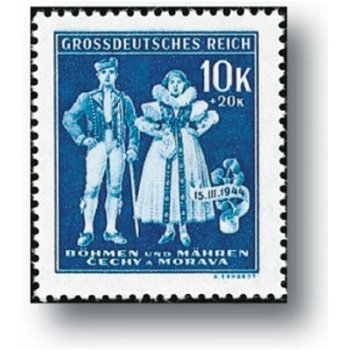5th anniversary of the establishment of the Protectorate - 3 stamps mint never hinged, catalog no. 133 - 135, Böh