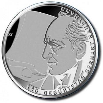 150th birthday of Gerhart Hauptmann, 10 euro silver coin 2012, Proof