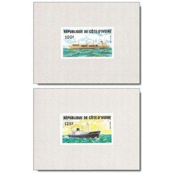 Schiffe - 4 Luxusblocks postfrisch, Katalog-Nr. 830B-833B, Elfenbeinküste