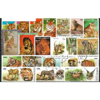 Wildcats - 100 different stamps