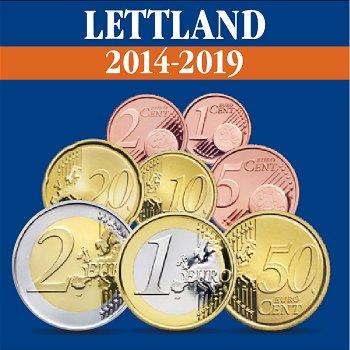 Lettland - Euro-Kursmünzsatz 2014-15, 2018-19