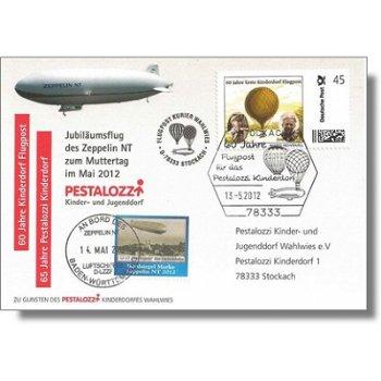 Zeppelin NT, 60 years Kinderdorf Airmail - receipt, Germany