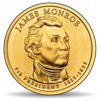 James Monroe, Präsidentendollar 2007, USA