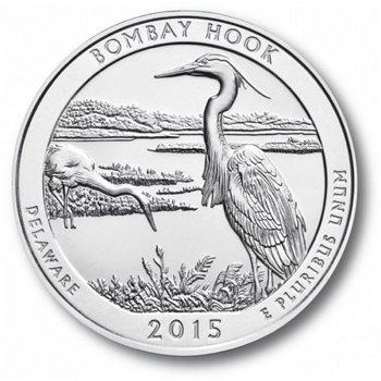 Bombay Hook, Nationalpark Quarter Münze, USA