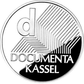 Documenta, 10-Euro-Silbermünze 2002, Polierte Platte