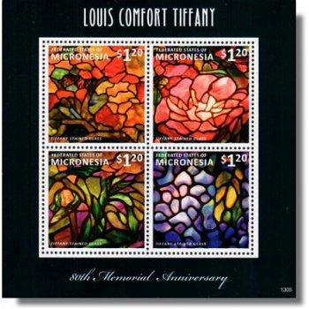 Louis Comfort Tiffany - Briefmarken-Block postfrisch, Micronesien