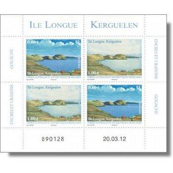 Ile Longue, Kerguelen - Briefmarken-Block postfrisch, Katalog-Nr. 780-81, TAAF