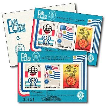 WM 1978 - 2 Briefmarken-Blocks postfrisch, gezähnt und ungezähnt, Uruguay