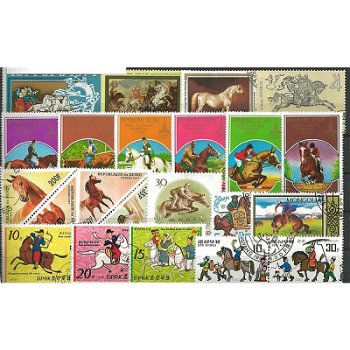 Horses - 500 different stamps