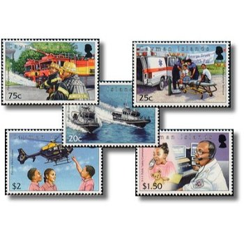 Rettungsdienste - 5 Briefmarken postfrisch, Katalog-Nr. 1216-1220, Kaiman-Inseln