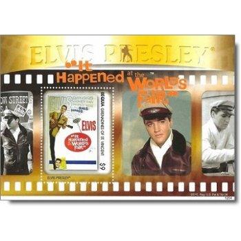 """Elvis Presley """"It Happened at the World's Fair"""" - Briefmarken-Block postfrisch, St. Vincen"""