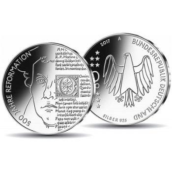 500 Jahre Reformation, 20 Euro Silbermünze 2017 Stempelglanz, Deutschland