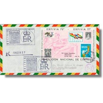 25 Jahre Krönung Königin Elisabeth, Briefmarkenausstellung PRAGA 78 - Block 76 auf echtgelaufenem Er
