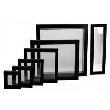 Schwebe-Rahmen für Münzen u. Medaillen, schwarz, Aussenmaße: 100 x 100 mm, Safe 4504