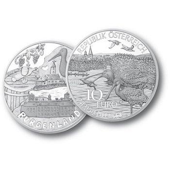 Serie Bundesländer - Burgenland, 10 Euro Silbermünze im Etui, Österreich