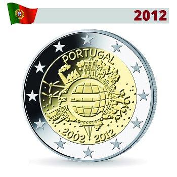 2 Euro Münze 2012, 10 Jahre Euro, Portugal