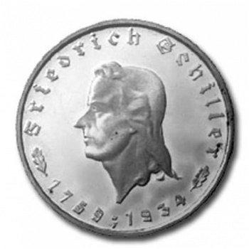 """5 Reichsmark """"175. Geburtstag von Friedrich Schiller"""", Weimarer Republik 1934"""