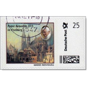 Papst Benedikt XVI. in Freiburg - Marke Individuell gestempelt